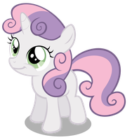 Sweetie Belle Smiling by OTfor2