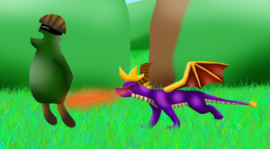 Spyro in Artisans by KyuubiCore