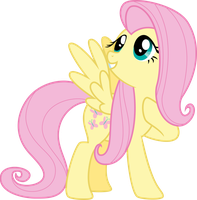 Vector 17} Fluttershy by RosaIine