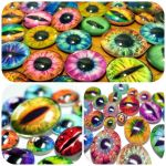 Glass Eyes for Wire Wrapping by Create-A-Pendant
