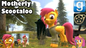 Motherly Scootaloo SFM Gmod pony by LunarGuardWhoof