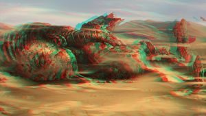 Desert 3D Anaglyphe by Fan2Relief3D