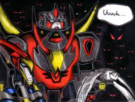 Dinobots alone in the dark by Swindle86