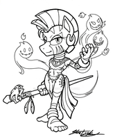 ZECORA - Sonic Style (inks) by MolochTDL