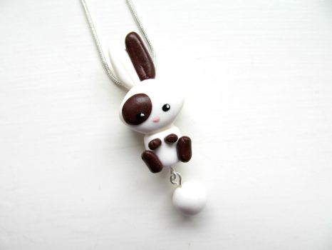 Bunny Rabbit Necklace by DapperLittleMagpie