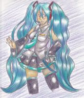 Color Pencil Miku by About12Kittens