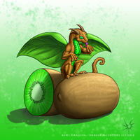 Kiwi Dragon by Aniseth-LightWing