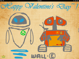 Happy Valentine's Day: Wall - E and Eve by SilentSoul2849