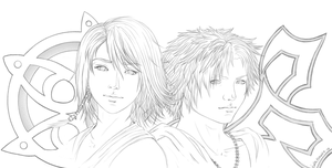 Yuna and Tidus - Lines by FinalFlower