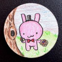 Hand Drawn Buttons - EBunny by gippentarp