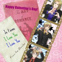 The Allies Blondes, Valentines by PIRIHETALIA12