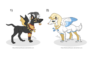 [Sold] Adoptables: Egyptian Guardians by MySweetQueen