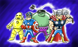 Earth's Mightiest Heroes! by Scuter