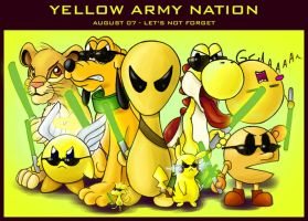 Yellow character trade union by lirale