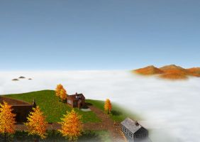 The World Above the Fog by AndromedaRoach