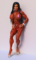 Bodybuilder Girl by Siberianar