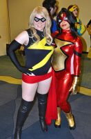 Ms. Marvel and Spider Woman by Sab-Zilla