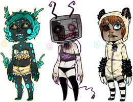 Auction: Creepy Cuties Adoptables {CLOSED} by BitterBile