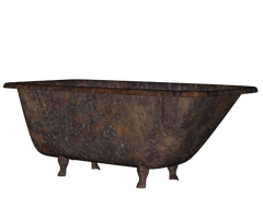 Rusty Bathtub png stock by mysticmorning