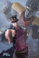 JoJo's Bizarre Adventure's fan art by LiuWeijun