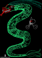 Mexica snake sat gif by CZProductions