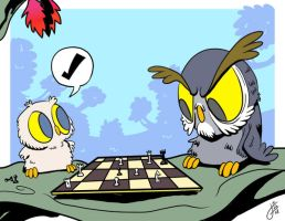 Owltober 22 Checkmate by killintyme