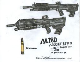 M18D Assault Rifle Request by WMDiscovery93