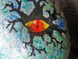 Silver Dragon Egg - Eye Detail by bornahorse