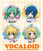 Vocaloid Buttons by MaowDao