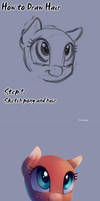 How to draw hair. Pony style. by viwrastupr