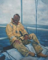 Old Man and the Sea - Painting by AstridBruning