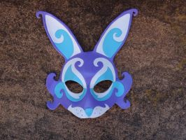 March Hare leather mask by Masktastic