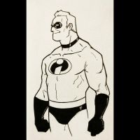 Daily Sketches 039: Mr. Incredible by AndrewKwan