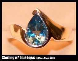 Pear shape topaz ring by Dans-Magic