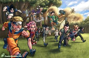 Naruto and Co. by AdamWithers
