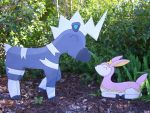 Life Size Blitzle and Deering by Minatek616