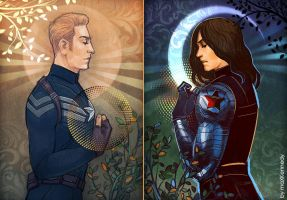 Captain America: Winter Soldier - Day and Night by maXKennedy