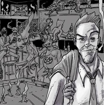 John Constantine o n the cover of SPORTS! by nandop