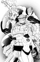 Fantastic Four Inks by KileyBeecher