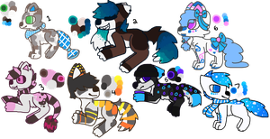 Batch of Canine adopts Auctions [4/7 OPEN] by catttastic
