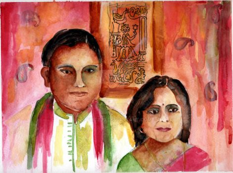 An Indian Couple by priti123