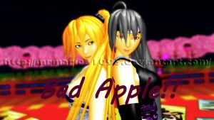 [MMD] Bad Apple!! - Haku and Neru ~Video~ by MrMario31095