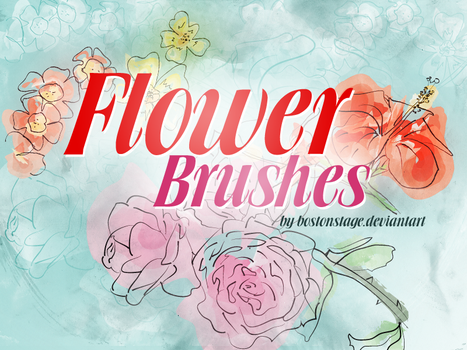 Flower Brushes by bostonstage