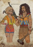 The Walking Disney : Simba and Nala by Kasami-Sensei