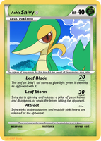 Ash's Snivy - Trivia Card by CrossfireOfPO