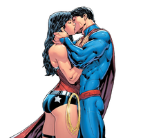 New 52 superman and wonder woman kissing by MayanTimeGod