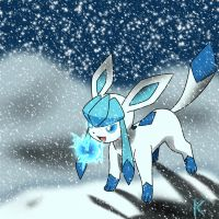 Glaceon Wallpaper Full View by Kage-Kaldaka