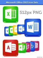 Microsoft Office 2013 Icon Sets by azisher