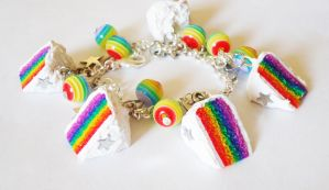 Rainbow Cake Bracelet by FrozenNote