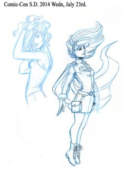 ComicCon2014 Doodle sketchs Part 2 by Pharoahess
